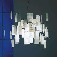 Hanging light Zettel z 5 with slips of paper