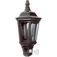 Practical outdoor wall light Ancona  black