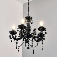 Mysterious looking Arabesque chandelier  black