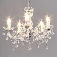 Elegant looking Arabesque chandelier  transparent
