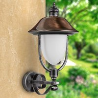 Outdoor wall light Peggy w  copper shade  upright