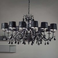 Black Angelis chandelier 12 bulb