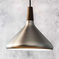 Pendant lamp Float in brushed steel  27 cm