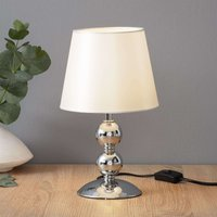 Bea chrome plated table lamp