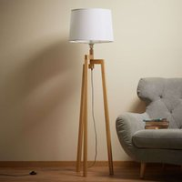 Montana tripod floor lamp with fabric lampshade