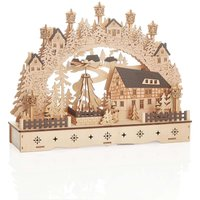 Mobile pyramid LED Schwibbogen Half timbered House