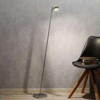 Bling LED floor lamp with dimmer  one bulb  chrome