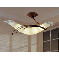 Roma designer ceiling light 30 antique brown