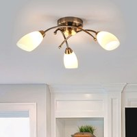 Opera 3 bulb ceiling light  antique brass