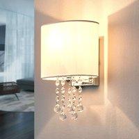 Nina wall light with a fabric lampshade
