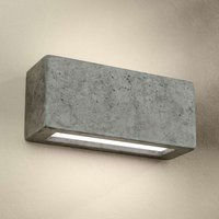 Proof wall light cast from concrete