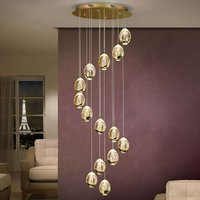 Rocio LED pendant light  14 bulb  gold