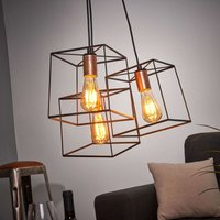 3 bulb hanging lamp Agatha with a vintage look