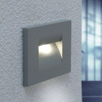 Silver grey Nevin LED wall light
