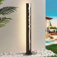 LED path light Keke in dark grey  100 cm