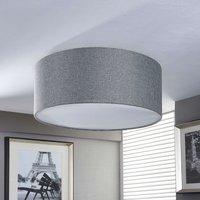 Silver grey fabric ceiling lamp Pitta
