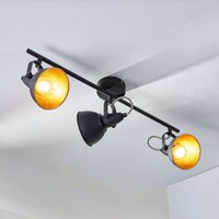 3 bulb ceiling light Julin  black and gold