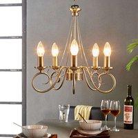 Marnia chandelier in antique brass  5 bulb