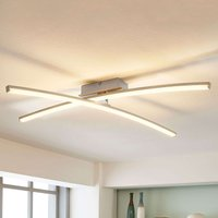 Laurenzia   LED ceiling light in chrome  dimmable
