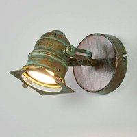 Spotlight Janek with LED bulb and verdigris effect