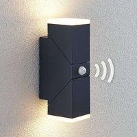 Sally LED outdoor wall light  two bulb with sensor