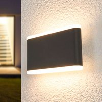 Vaiana LED outdoor wall lamp  dark grey