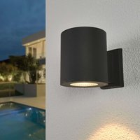 Tiago LED outdoor wall light in dark grey
