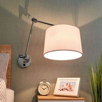 Fabric wall light Jolla  cantilever arm and switch
