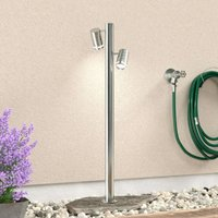 2 bulb Zilly II stainless steel path light