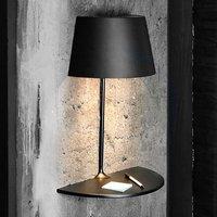Designer wall light Illusion Half in black