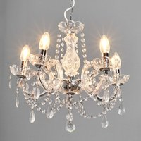 Marie Therese chandelier  chrome  five bulb