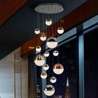 Sphere LED hanging light  multicoloured  14 bulb