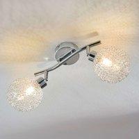 2 bulb LED ceiling lamp Ticino