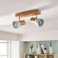 Thorin   2 bulb wood ceiling lamp