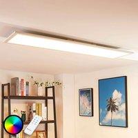 Long LED ceiling light Tinus  RGB and warm white