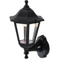 Iavo LED outdoor wall lantern in black