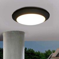LED outdoor ceiling light Berta  black  11W 3 000K