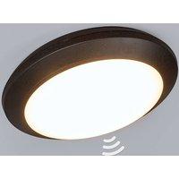 Sensor ceiling light Umberta black 11 W 3 000 K