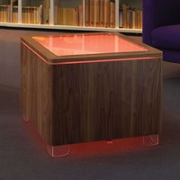 Luminous table Ora LED with a wooden body