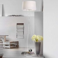 White fabric floor lamp New York  pull switch
