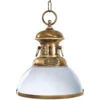 Elegant hanging light Country burnished brass