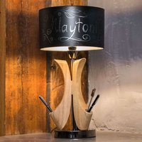 Table lamp Brava Lampada with chalk decoration