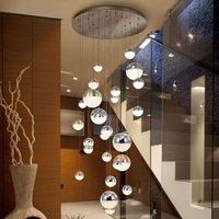Sphere LED hanging light  multicoloured  27 bulb