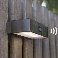 Solar powered Brick LED sensor outdoor wall light