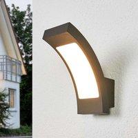 Juvia graphite grey LED outdoor wall lamp  IP54