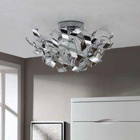 Decorative chrome ceiling lamp Elviro