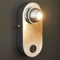 LED wall light Eren with lens and switch