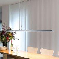 Suspension LED de designer Tender, chromée mate