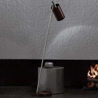 Lampadaire LED de designer Nobu, chromé-noir