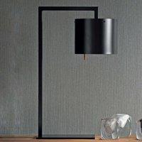 Lampe à poser de designer Afra, noire-argentée